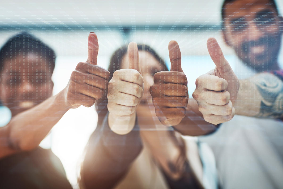 thumbs up happy employees binary diversity motivated staff happy people by peopleimages getty 100809698 large